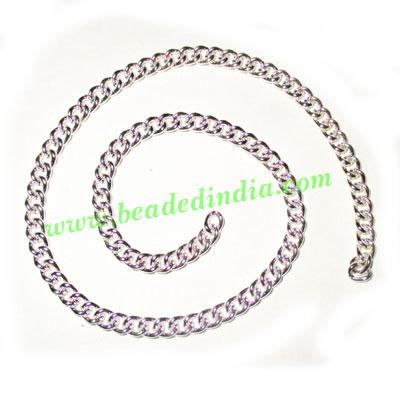 Silver Plated Metal Chain, size: 1x4mm, approx 26.5 meters i - Silver Plated Metal Chain, size: 1x4mm, approx 26.5 meters in a Kg.