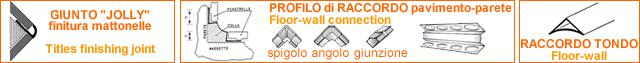 Profilo di raccordo pavimento - parete