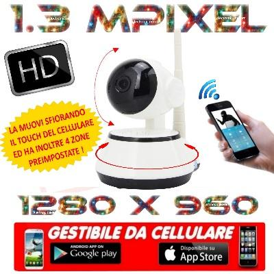 ELECAMERA IP WIFI WIRELESS CLOUD PT GESTIBILE DA CELLULARE