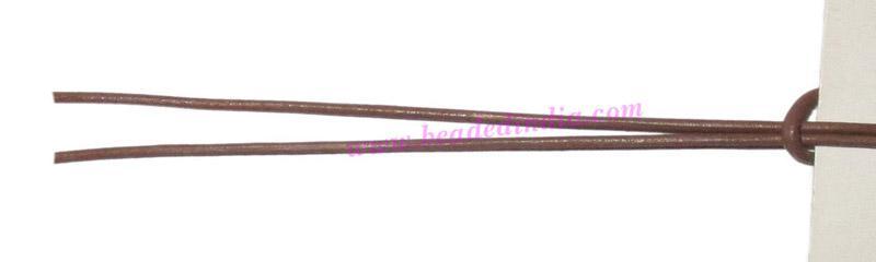Leather Cords 0.5mm (half mm) round, regular color - camel. - Leather Cords 0.5mm (half mm) round, regular color - camel.