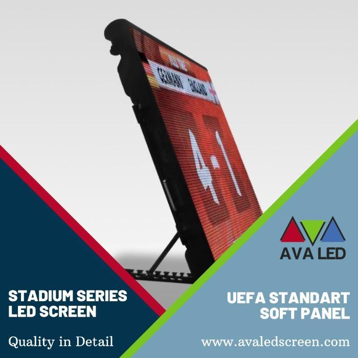 Schermate informative del tabellone segnapunti dello stadio - Schermo LED AVA con informazioni ad alta definizione