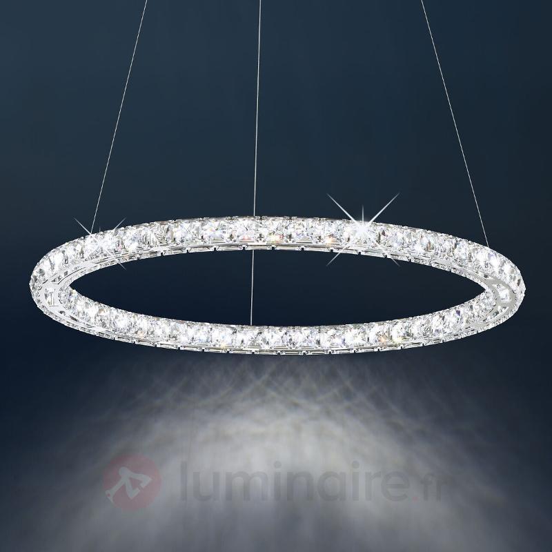 Circle - suspension LED a. pierres Swarovski, 61cm - Suspensions en cristal