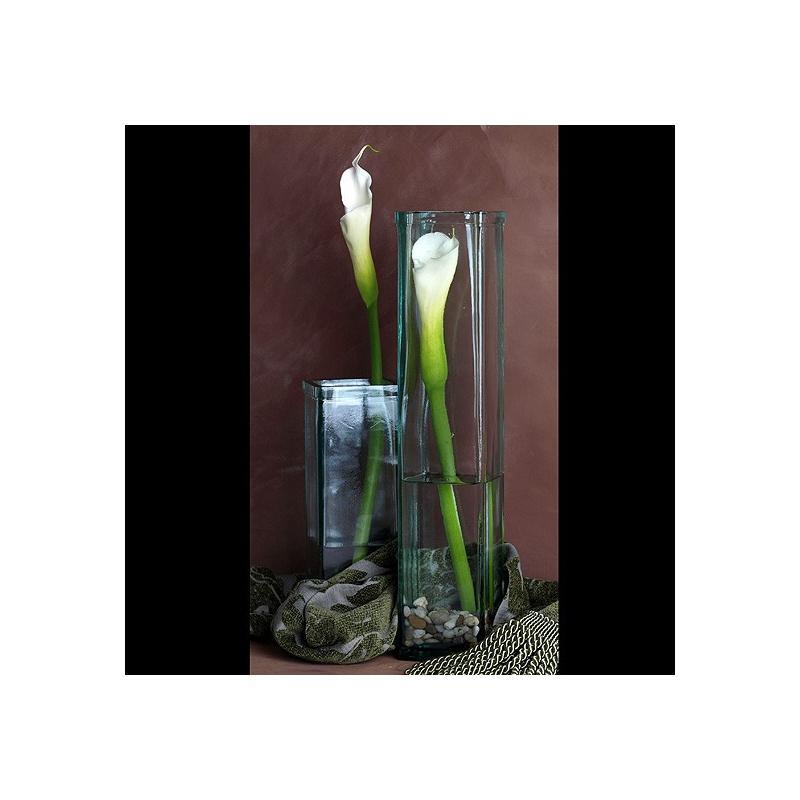 Vase ANTARTIDA, en verre 100% recyclé 55 cm - Vases, Lanternes, décoration