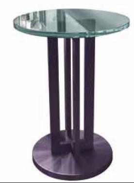 Tavolino in vetro e bronzo - Modello 992