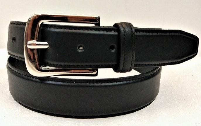 Leather Belt 05 - Matte Black Formal Leather belt for men
