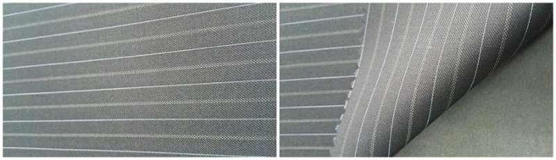 la laine / polyester / brillant fibre 80/3.2/16.8 - fils teints rayures / vapeur terminer