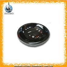 Haobo Art Design Black Granite Stone Popular Sinks