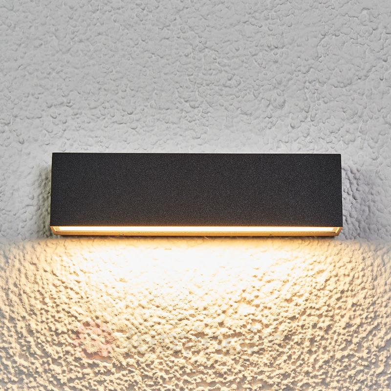 Elvira - applique ext. LED gris graphite IP65 - Appliques d'extérieur LED