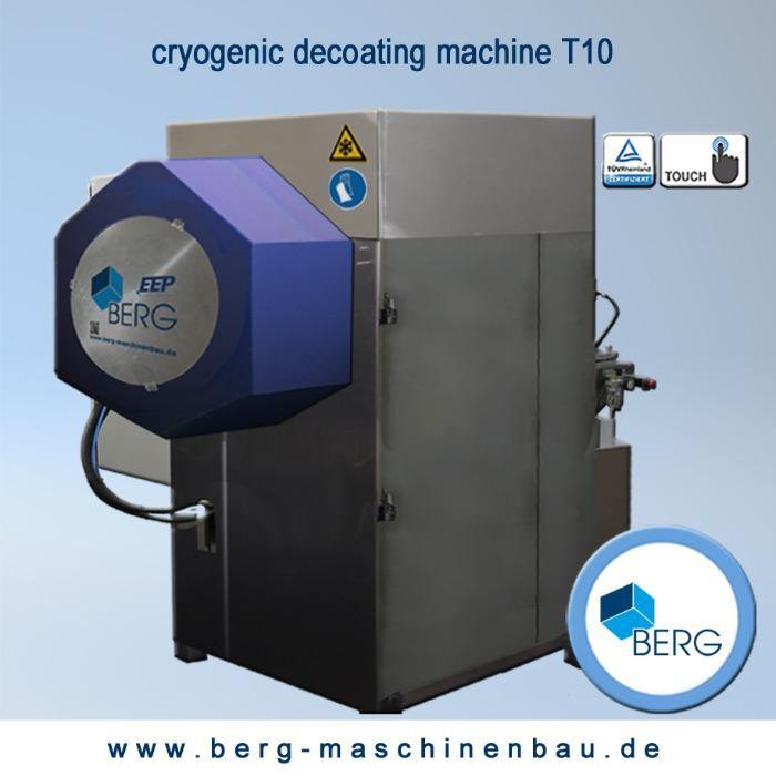 Installations de dégommage cryogéniques T10 - pour éliminer l'accumulation d'élastomère liée à la production - sans chimiques