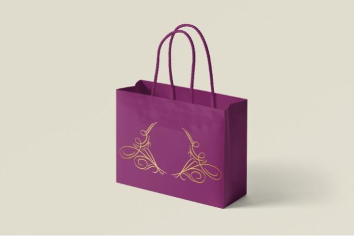 Punga de cadou - Ambalaje luxury/serigrafie/hot foil