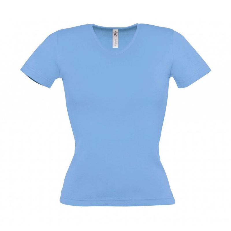 Tee-shirt femme col V - Manches courtes