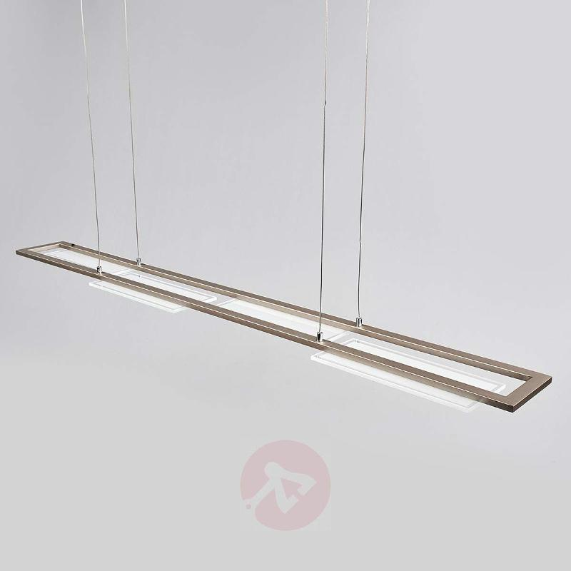 LED pendant light Nele, matt nickel, 120 cm - Pendant Lighting