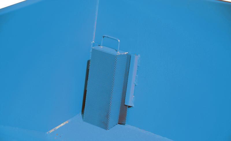 Spänebehälter Typ SKM, Anbaugerät für Gabelstapler - Behälter speziell zum Sammeln und Trennen der Flüssigkeiten von Feststoffen