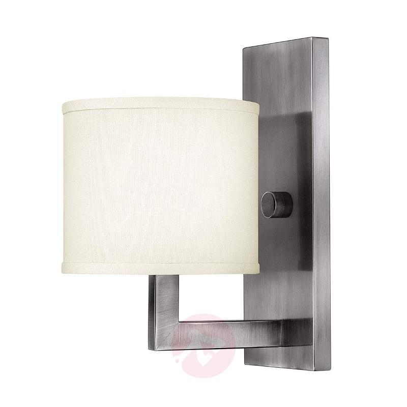 Hampton modern fabric wall light - Wall Lights