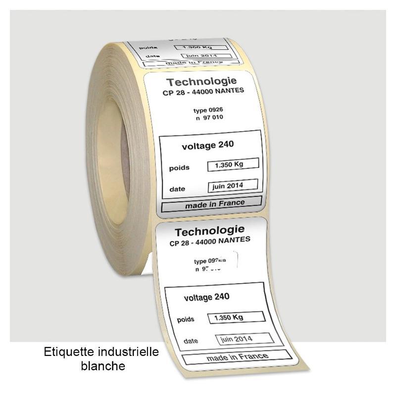 Étiquettes industrielles 1-2 couleurs - Étiquettes industrielles