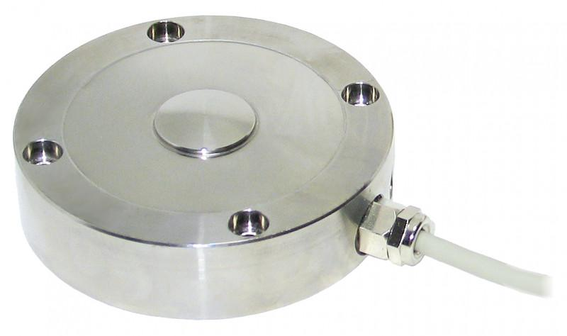 High precision compression load cell - 8527 - Compression load cell, button type, premium steel, protection class IP 65