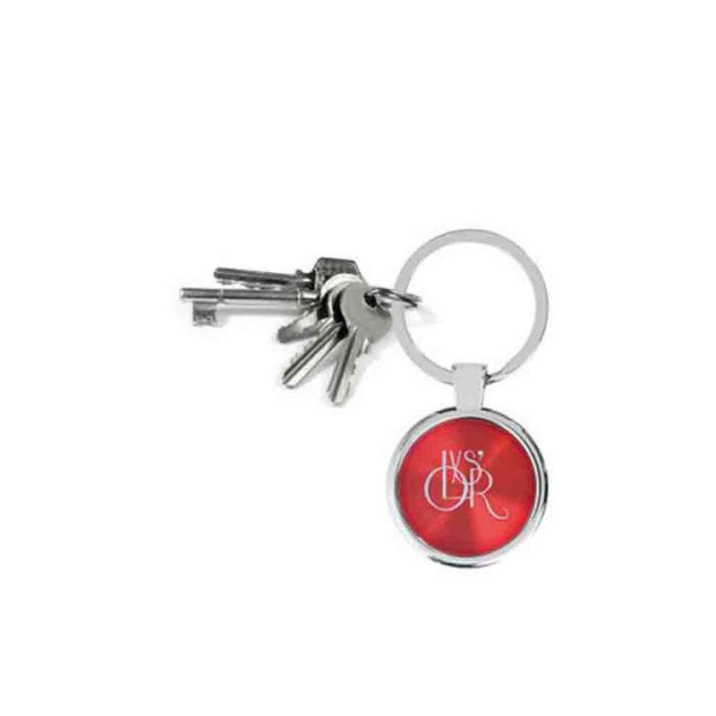Porte-clés métal rond noir - Porte-clés métal