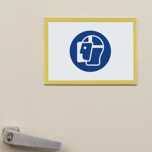 Magnetic information holders - magnetic  tapes on the backside, transparent