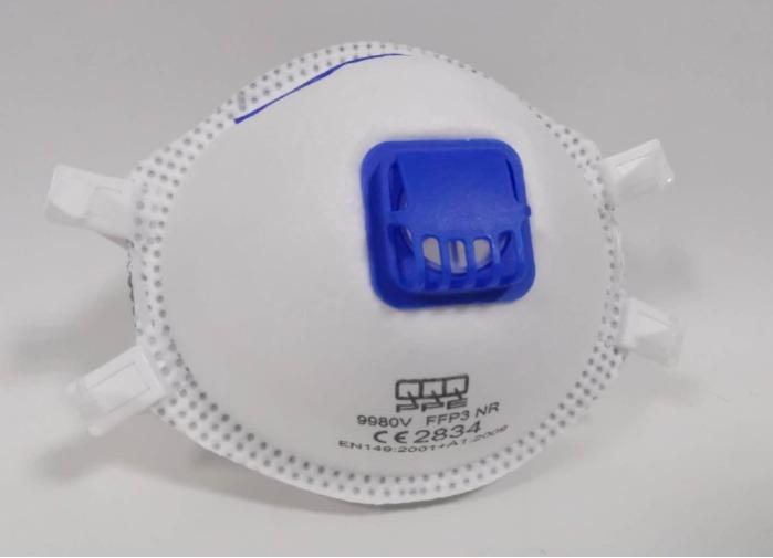 FFP3 R D Halbmaske, N95 (BFE ≥ 95%) - mit Ventil, hergestellt in China
