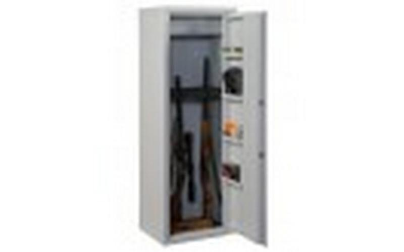 Metal weapon cabinet for 10 guns - null
