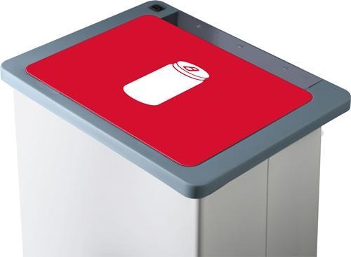 Carro-Lift, Metall Abfallsammler, 70 L, weiss/rot - Z00055007