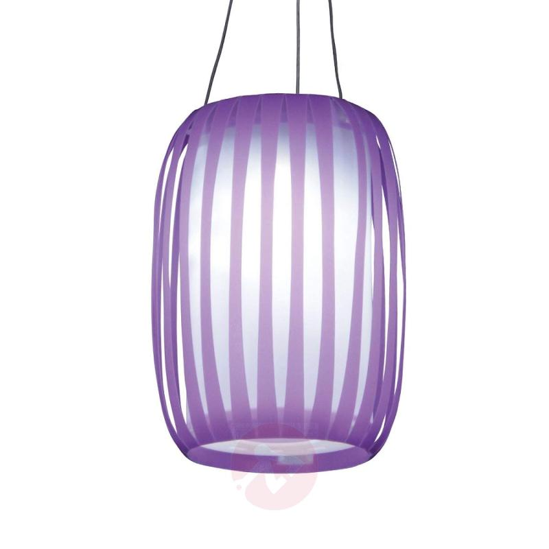 In lantern design - LED solar light Lilja purple - outdoor-led-lights
