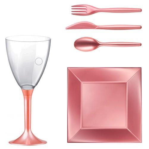 Vaisselle jetable - Vaisselle jetable écologique, extra dur, design, réutilisable et pour les fêtes