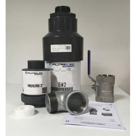 Kit filtre à eau capteur d'hydrocarbure débit 15L -