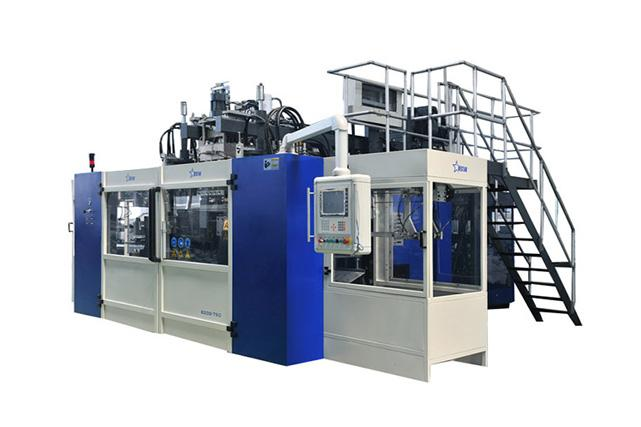 Lubricating Oil Blow Molding Machine Cases - 2-layer Co-Extrusion Blow Molding Machine B15D-560 2stations...