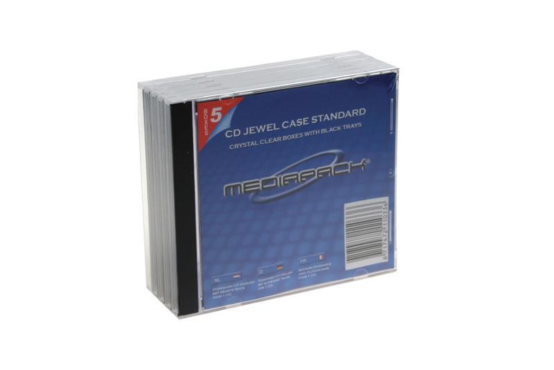 CD Jewelcase 5er Pack - MPI - schwarz - Retailverpackungen & Zubehör