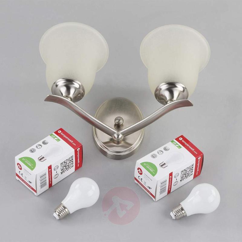 2-bulb noble-looking wall light Trisha - Wall Lights