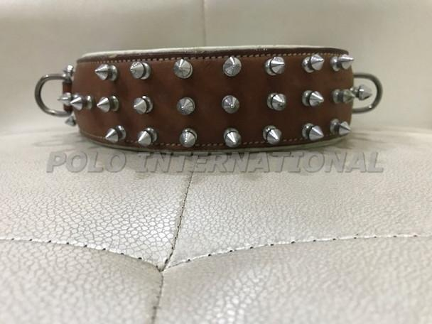 Leather dog collar - Spike stud dog collar