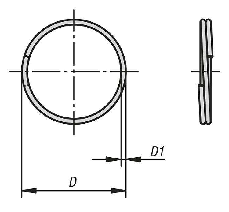 Porte-clefs - Goupille d'arrêt