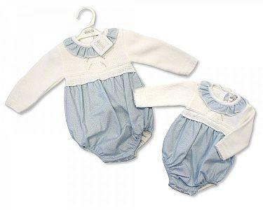 Spanish Style Knitted Baby Romper -