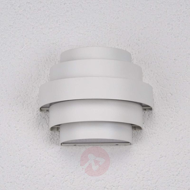 Enisa white LED wall light for outdoor areas - Outdoor Wall Lights