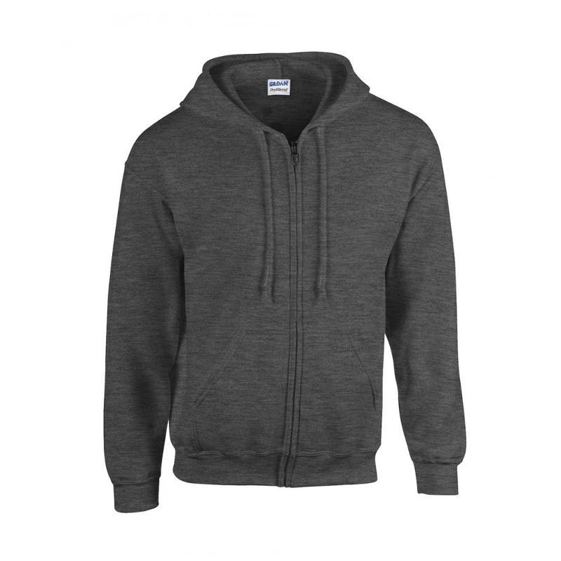 Sweat shirt zip manches set-in - Avec capuche