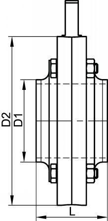 64341 VANNE PAPILLON BOUTS LISSES JOINT FKM (BNIC) Inox 316L - Vannes papillon MACON