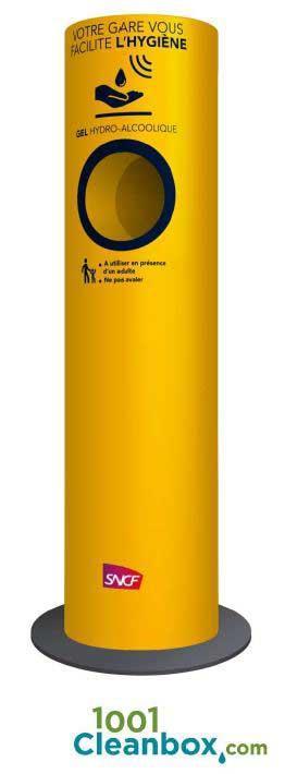 Clean'box - 1ere borne autonome et personnalisable de gel hydroalcoolique