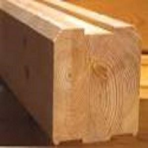 ready wooden house of glued timber
