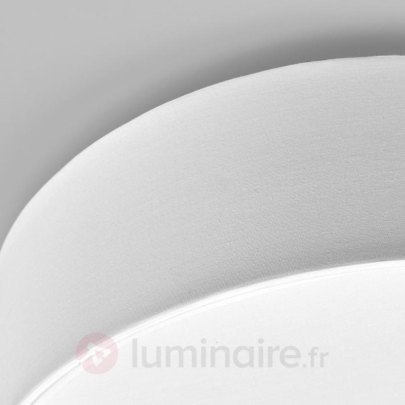 Plafonnier Sebatin en tissu, couleur crème - Plafonniers en tissu