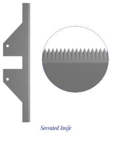 SERRATED KNIFE - CROSS CUTTING - PHARMACEUTICAL AND COSMETICS CUTTING BLADES