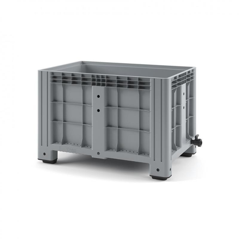 Plastic iBox Container 1200х800 (solid, with legs) - Art.: 11.602F.91.PE.C10