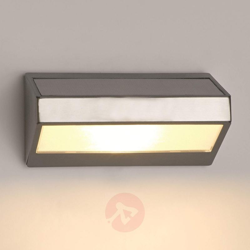Greenhouse LED Solar Outside Wall Light - stainless-steel-outdoor-wall-lights