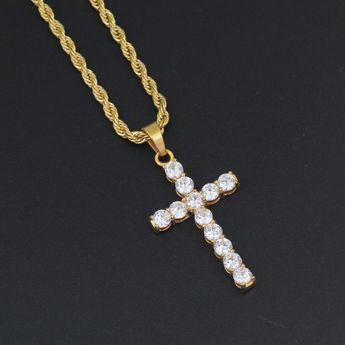 Cross Shape Crystal Pendant - We supply different kinds of fashion accessories,such as pendant,cross,bracelet,