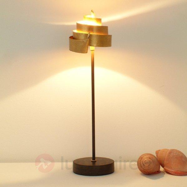 Jolie lampe à poser BANDEROLE GOLD en fer - Lampes à poser pour rebord de fenêtre