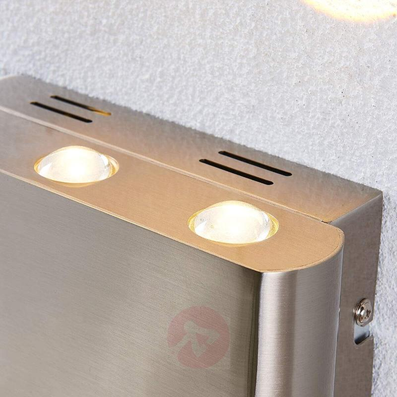 Elegant LED wall lamp Lexa, satin nickel - Wall Lights