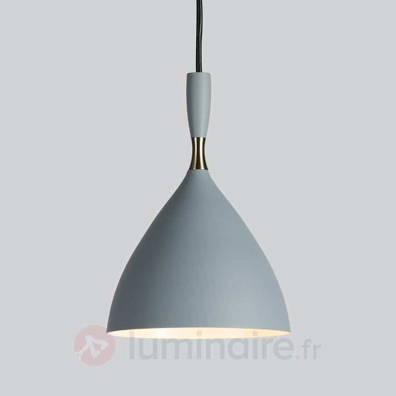 Suspension gris clair Dokka en acier - Suspensions design