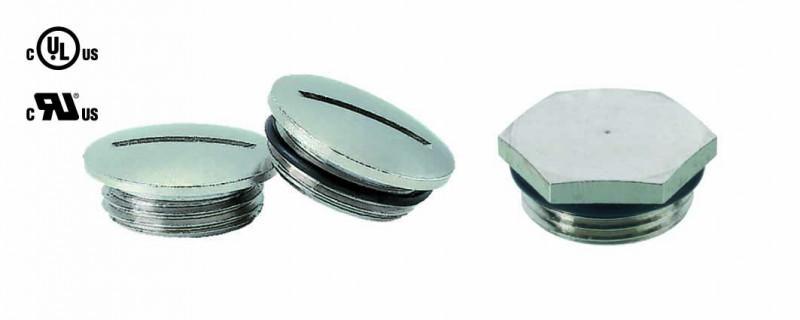 Tapón roscado latón niquelado M12 - M75 - Tapón roscado de latón niquelado redondo y hexagonal
