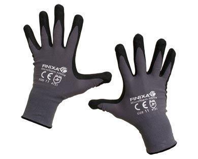 Microfoam nitrile gloves - null
