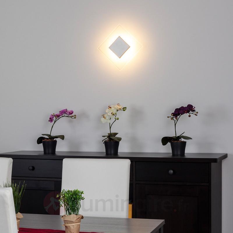 Plafonnier LED Lole carré en verre - Plafonniers LED